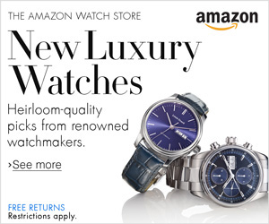 Shop luxury watches on Amazon