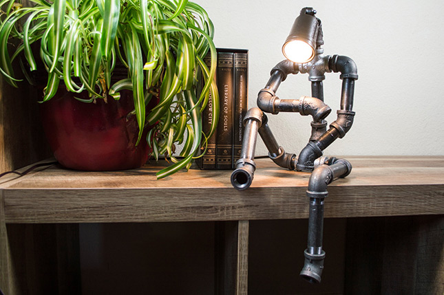 Handmade Metal Robot Lamp Want That Com
