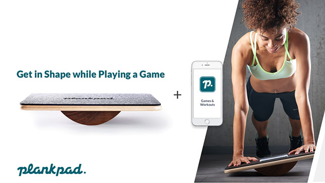 Plankpad - Get in shape while playing games on your mobile