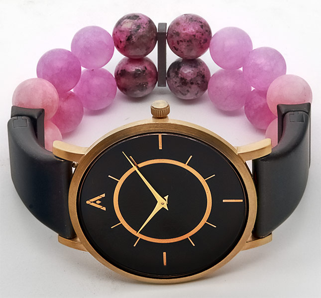 AMALGAM Watch-dark-pink