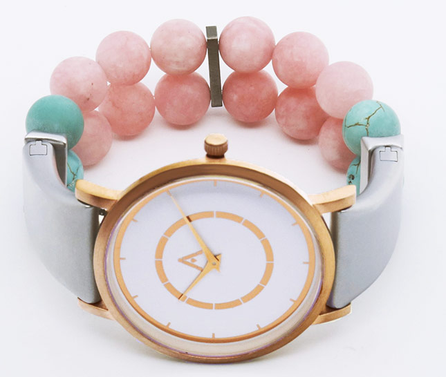 AMALGAM Watch-white-pink